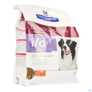 Hill's Prescription Diet Chien I/D Low Fat Poulet 1,5kg