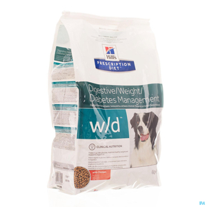 Hill's Prescription Diet Digestive/Weight/Diabetes Management W/D Chien Poulet 4kg