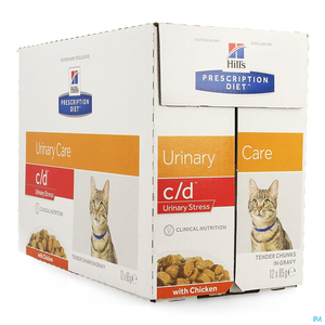 Hill's Prescription Diet Chat C/D Stress Poulet 12x85g