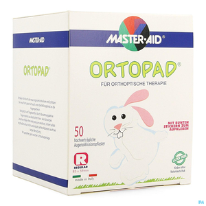 Ortopad Regular 50 Pansements Oculaires Blancs