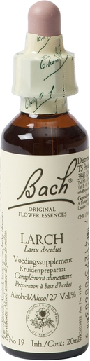 Bach Flower Remedie 19 Larch 20ml | Abattement - Désespoir