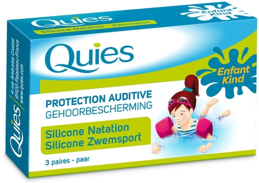 Quies Protection Auditive Enfant Silicone Natation (3 Paires) | Protection oreilles