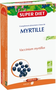 Super Diet Myrtille Bio 20 Ampoules x 15ml