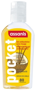Assanis Gel Mains Exotic Coco-vanille 80ml