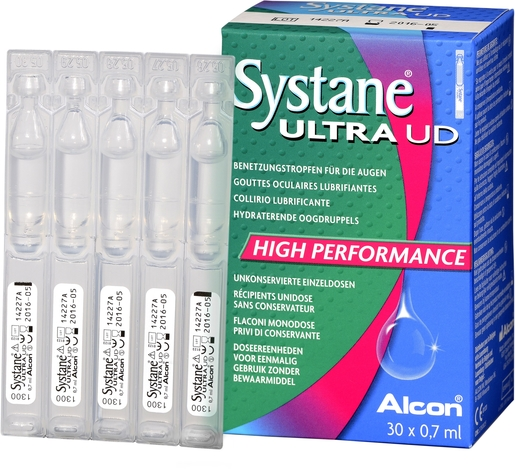 Systane Ultra Gouttes Oculaires Unidoses 30x0,7ml | Sécheresse oculaire