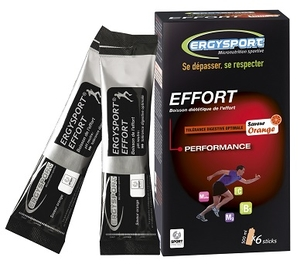 Ergysport Effort Orange Boisson Stick 6x30g
