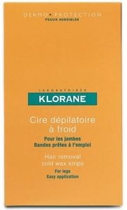 Klorane Depilatoires Cire Froide Jambes Bandes 6