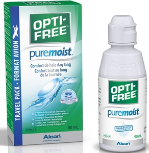 Opti-Free Pure Moist Solution Multi-Fonctions 90ml (+ Etui)