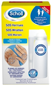 Scholl Pharma SOS Verrues 80ml + 4 Applicateurs