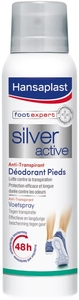 Hansaplast Foot Expert Spray Déodorant Silver Active Anti-Transpirant Pieds 150ml
