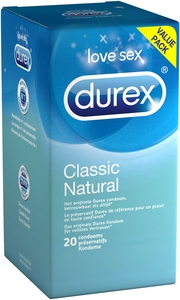 Durex Classic Natural Condoms 20