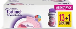 Fortimel Compact Protein Week Pack Fraise 14x125ml (13 + 1 gratis)