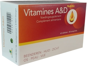 Vitamines A&D Nutritic 60 Comprimés