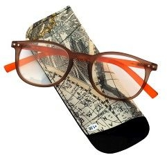 Pharmaglasses Lunettes Comp. +3.00 Brown/orange