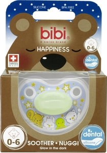BIBI Happiness Sucette Glow in the Dark (de 0 à 6 mois)