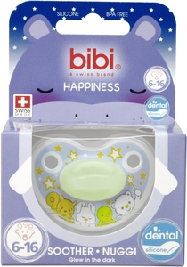 BIBI Happiness Sucette Glow in the Dark (de 6 à 16 mois)