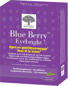 New Nordic Blue Berry Eyebright 120 Comprimés