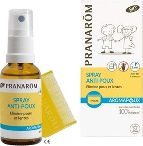 Pranarôm Aromapoux Bio Spray Anti-Poux 30ml + Peigne