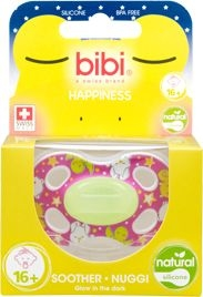 Bibi Happiness Sucette Natural 4 Friends Glow In The Dark (+16 mois)