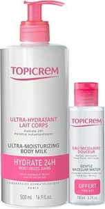 Topicrem Ultra Hydratant Lait Corps 500ml + eau Micellaire 100ml