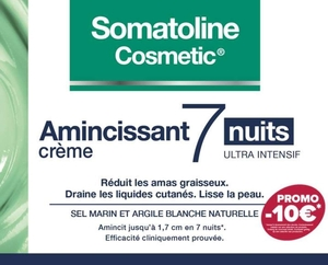 Somatoline Cosmetic Amincissant Intensif 7 Nuits 400ml (prix spécial -10€)