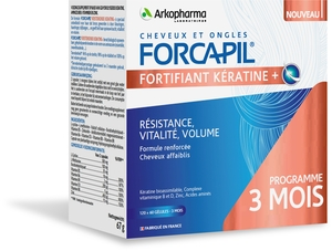 Forcapil Keratine+ Lot Caps 180