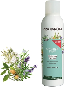 Pranarôm - Aromaforce Spray Assainissant - Ravintsara | Tea-Tree - Riche en cinéole - Assainit et Purifie l'Air - 150 ml