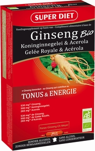 Super Diet Ginseng Bio 20 Ampullen x 15ml
