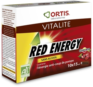 Ortis Red Energy Bio Alcoholvrij 10 Flesjes x15ml