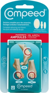 Compeed 5 blarenpleisters MixPack