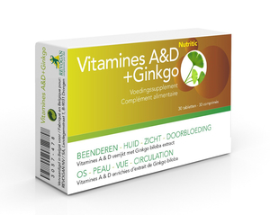 Nutritic Vitamines A & D plus Ginkgo 30 Tabletten