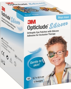 Opticlude 3M Silicone 50 Eye Patch Boy Maxi