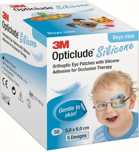 Opticlude 3M Silicone 50 Eye Patch Boy Mini