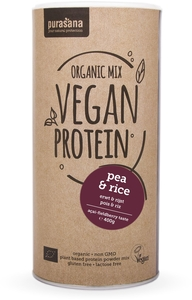 Purasana Organic Mix Vegan Protein Bio Pea-Rice (acai-fieldberry) 400g