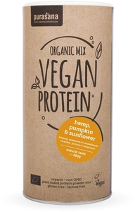 Purasana Organic Mix Vegan Protein Bio Hemp-Sunflower-Pumpkin (natural) 400g