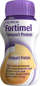 Fortimel Compact Protein Pittige Tropical-Gembersmaak 4x125ml